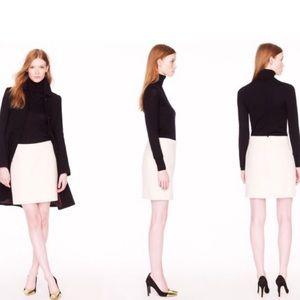 J. CREW Cream Wool Blend Mini Skirt
